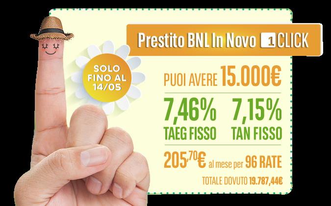 Prestito online BNL In Novo 1Click